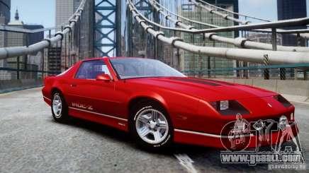 Chevrolet Camaro 1990 IROC-Z v1.5 for GTA 4