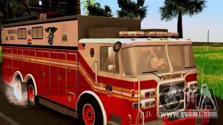Pumper Firetruck Pierce F.D.N.Y for GTA San Andreas