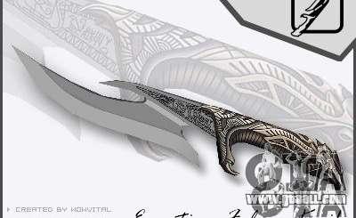 EGYPTIAN FALCON KNIFE V1.0 for GTA San Andreas