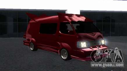 Toyota Hiace Vanning for GTA San Andreas
