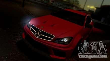 Mercedes Benz C63 AMG C204 Black Series V1.0 for GTA San Andreas