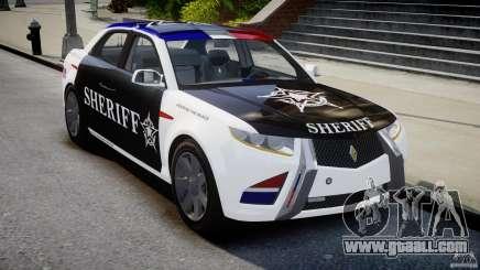 Carbon Motors E7 Concept Interceptor Sherif ELS for GTA 4