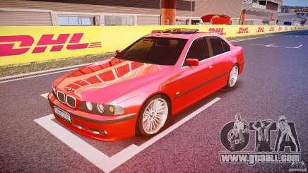BMW 530I E39 stock chrome wheels for GTA 4