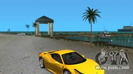 Ferrari 458 Italia for GTA Vice City