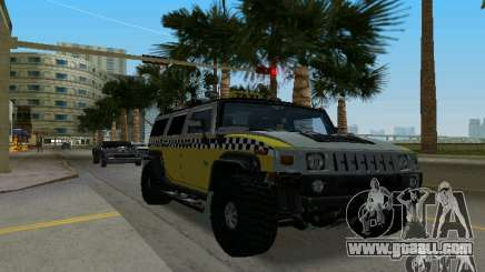 Hummer H2 SUV Taxi for GTA Vice City