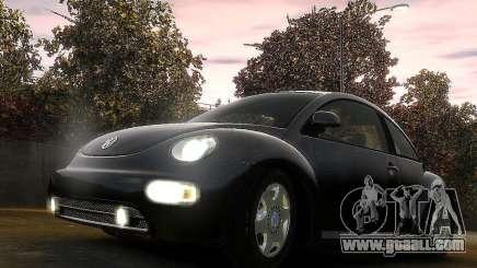 Volkswagen Beetle чёрный for GTA 4