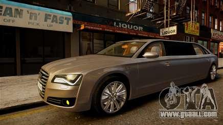Audi A8 limousine for GTA 4
