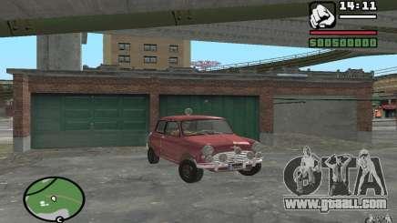 Mini Cooper S Burgundy for GTA San Andreas