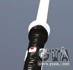 Lightsabre v2 White for GTA San Andreas