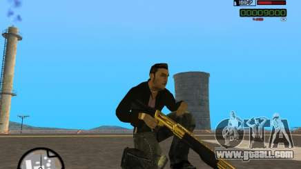 Shotgun Gold for GTA San Andreas