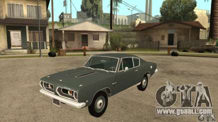 Plymouth Barracuda Formula S 383 1968 for GTA San Andreas
