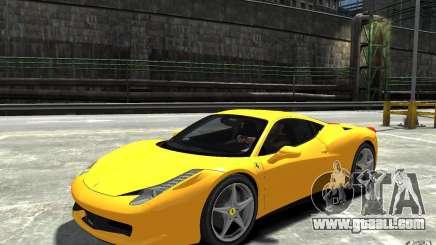 Ferrari 458 Italia 2010 v3.0 for GTA 4