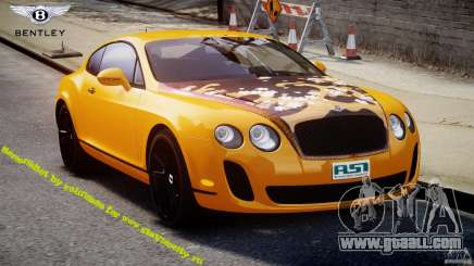 Bentley Continental SS 2010 ASI Gold [EPM] for GTA 4