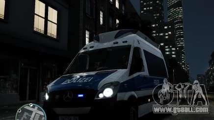 Mercedes Sprinter German Police for GTA 4