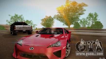 Lexus LFA for GTA San Andreas