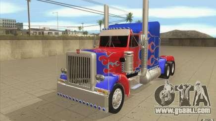 Peterbilt 379 Optimus Prime for GTA San Andreas