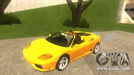 Ferrari 360 Spider yellow for GTA San Andreas