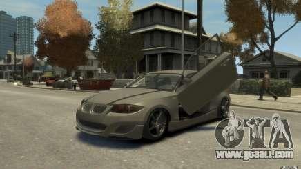 BMW 135i silver for GTA 4