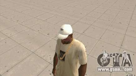 Umbro Cap white for GTA San Andreas