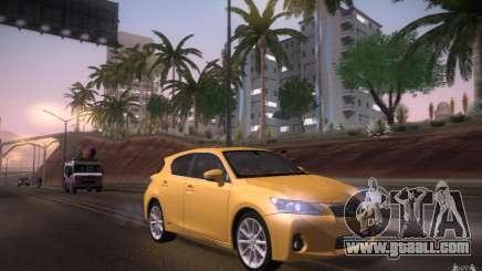 Lexus CT200H 2011 for GTA San Andreas