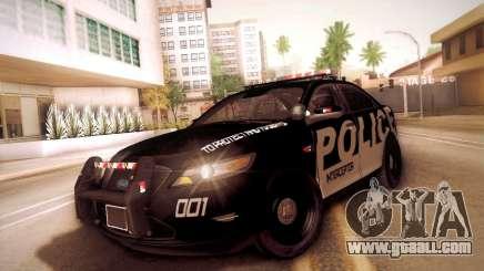 Ford Taurus Police Interceptor 2011 for GTA San Andreas