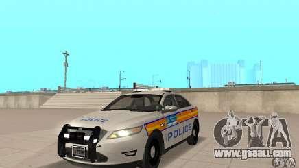 Ford Taurus 2011 Metropolitan Police Car for GTA San Andreas