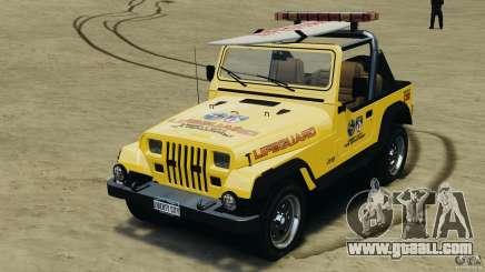 Jeep Wrangler 1988 Beach Patrol v1.1 [ELS] for GTA 4