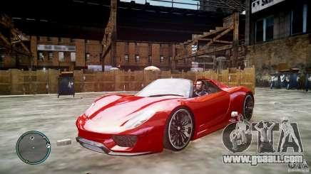 Porsche 918 Spyder Concept for GTA 4