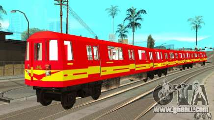 Liberty City Train Red Metro for GTA San Andreas