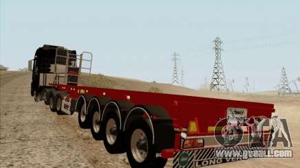 MAN TGX 8 x 4 trailer for GTA San Andreas