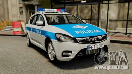 Kia Ceed 2011 SW Polish Police ELS for GTA 4