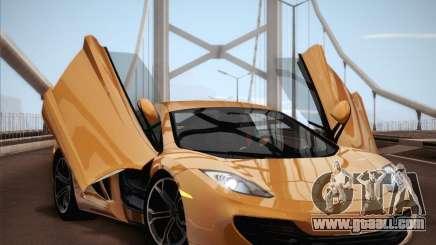 McLaren MP4-12C BETA for GTA San Andreas