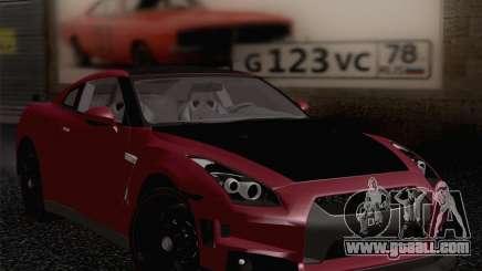Nissan GTR Edited for GTA San Andreas