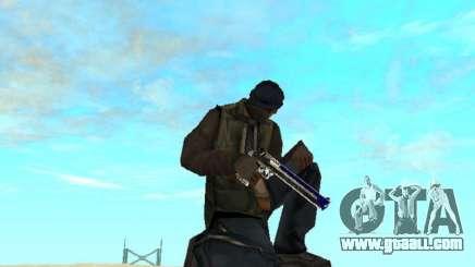 Blue and black gun pack for GTA San Andreas