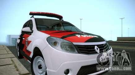 Renault Sandero Policia for GTA San Andreas