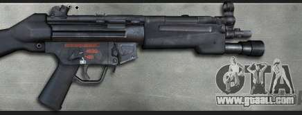 MP5A4 Surefire for GTA San Andreas