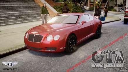Bentley Continental GT 2004 for GTA 4