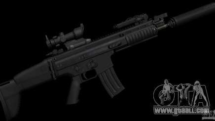 SCAR-L black for GTA San Andreas