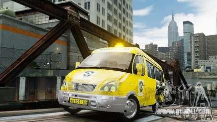 Gazelle 2705 Taxi v 2.0 for GTA 4