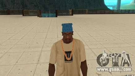 Bandana blue maryshuana for GTA San Andreas
