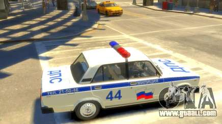 Vaz-2105 police for GTA 4