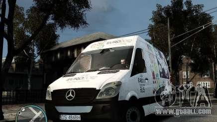 Euro 2012 Bus Mercedes Sprinter for GTA 4