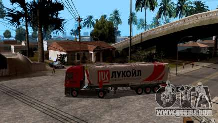 Trailer of Lukoil for Mercedes-Benz Actros for GTA San Andreas