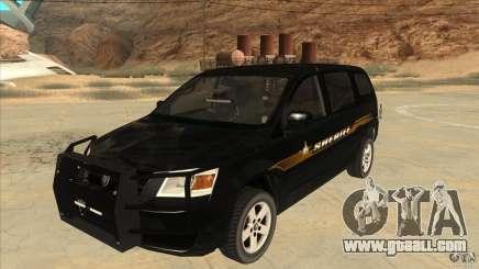 Dodge Caravan Sheriff 2008 for GTA San Andreas