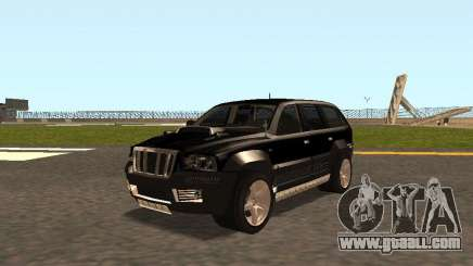 Jeep Grand Cherokee Black for GTA San Andreas