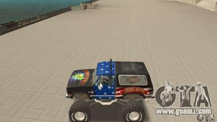 Chevrolet Blazer K5 Monster Skin 3 for GTA San Andreas