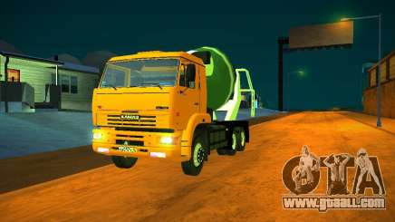 KAMAZ 6460 concrete mixer for GTA San Andreas