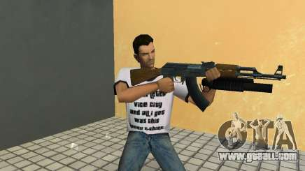 AK-47 with a grenade launcher М203 for GTA Vice City