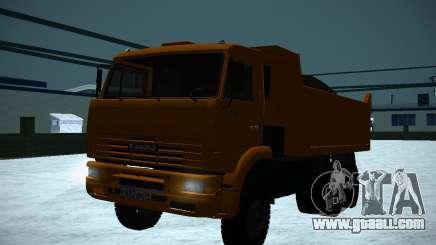 KAMAZ 6520 dump truck for GTA San Andreas