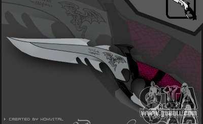 Dragon Lord knife for GTA San Andreas